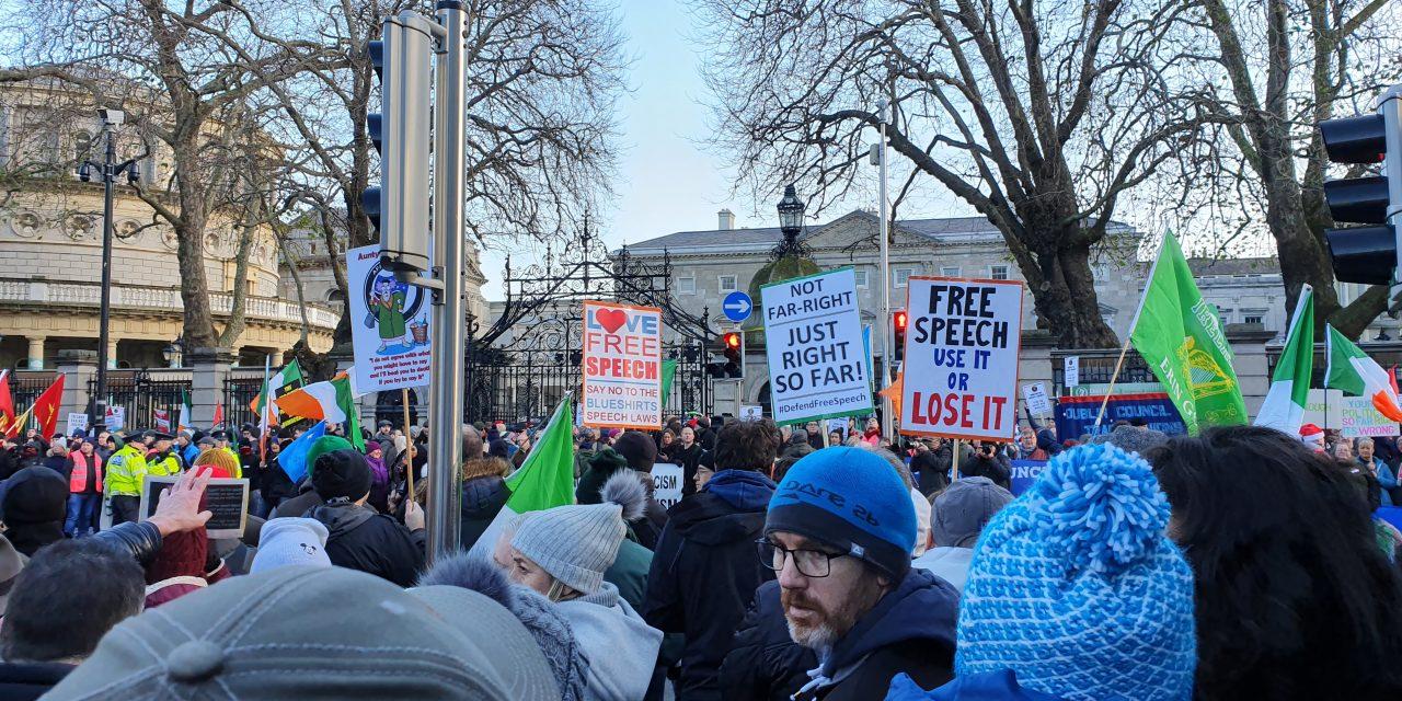 FREE SPEECH PROTEST @ Dáil Éireann