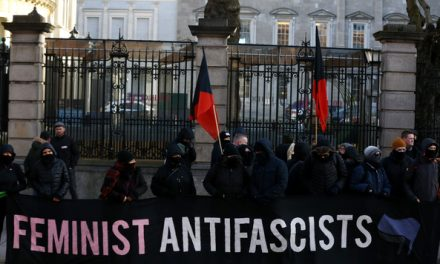 BIASED ONE SIDE OF THE COIN TRASH JOURNALISM BY THE JOURNAL.IE : 'Listen up and listen clear, refugees are welcome here': Protesters clash outside Leinster House