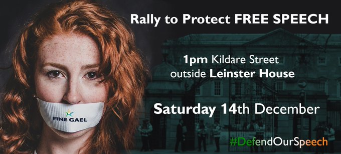DUBLIN PROTEST TO DEFEND FREE SPEECH
