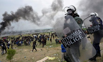 Greek authorities clash with rioting migrants on Samos Island