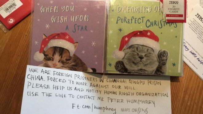 Tesco halts production of Christmas cards in Chinese factory after message for help discovered inside