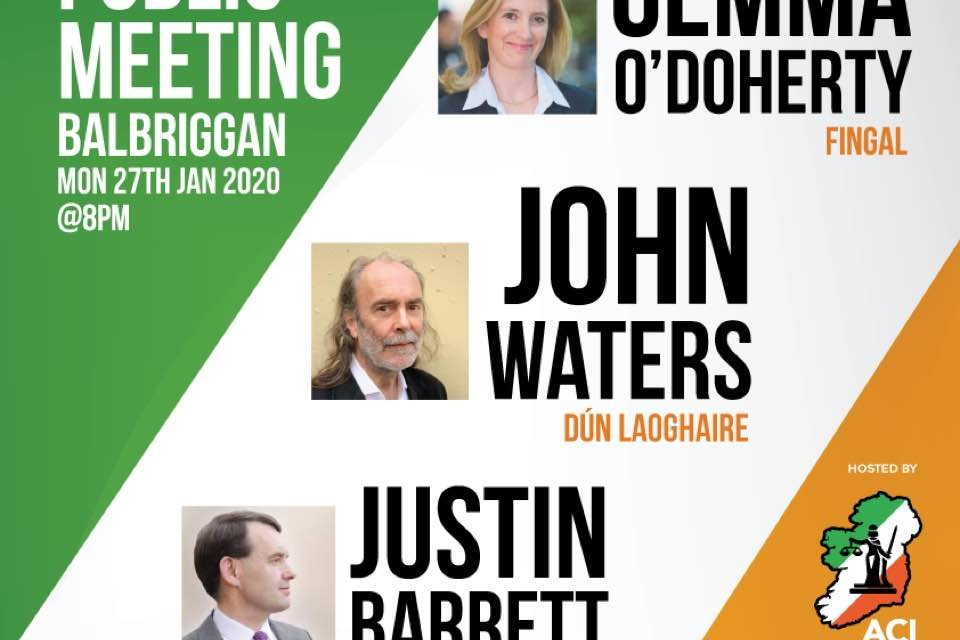 ACI PUBLIC MEETING – Balbriggan 27th Jan 2020