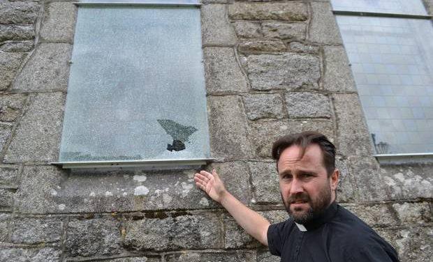 Mindless vandals smash church windows in Baltinglass