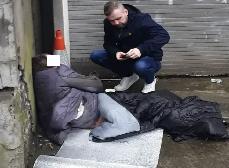 Welcome to Ireland 2020: Image goes viral of soaking wet elderly homeless woman with dementia sleeping rough in Dublin