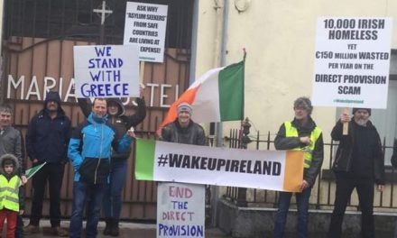 plantation protest in Tullamore