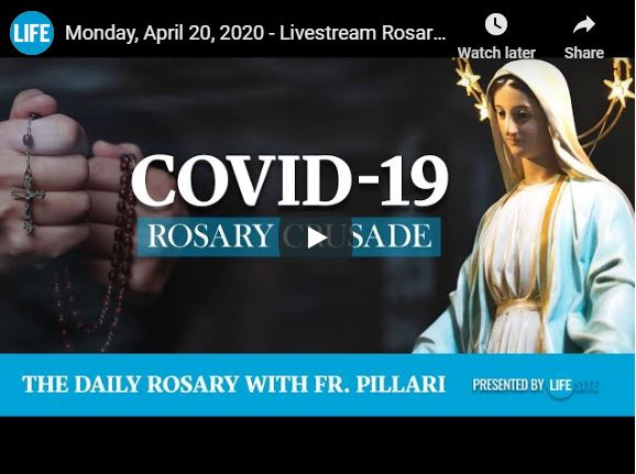 Join our daily live worldwide rosary HERE