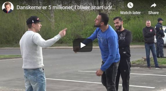 """Migrant tells Danish man: """"You Danes are animals, you will be exterminated"""" (VIDEO)"""
