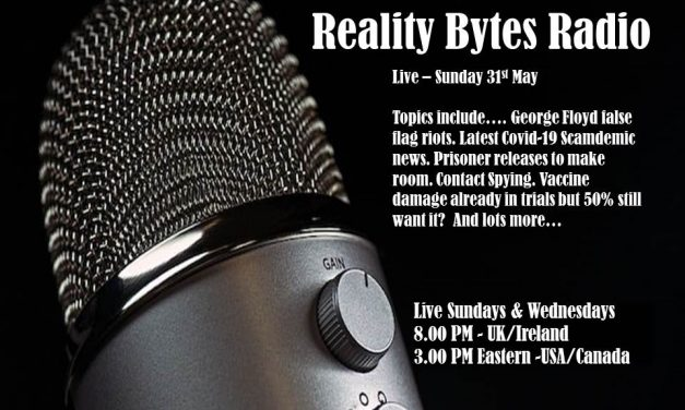 Reality Bytes Radio – Live – Sunday May 31st