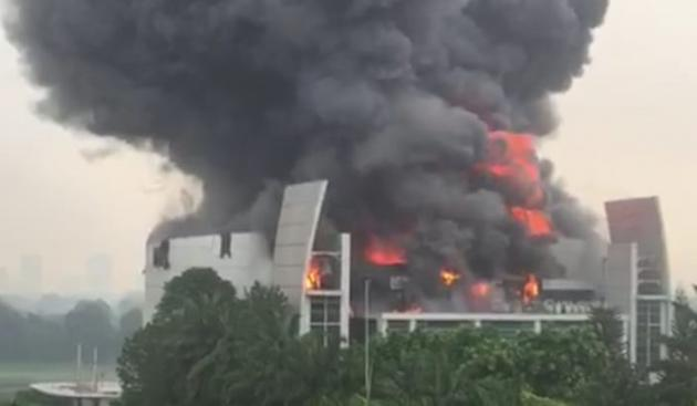 Church of Christ Cathedral Serpong Under Flames