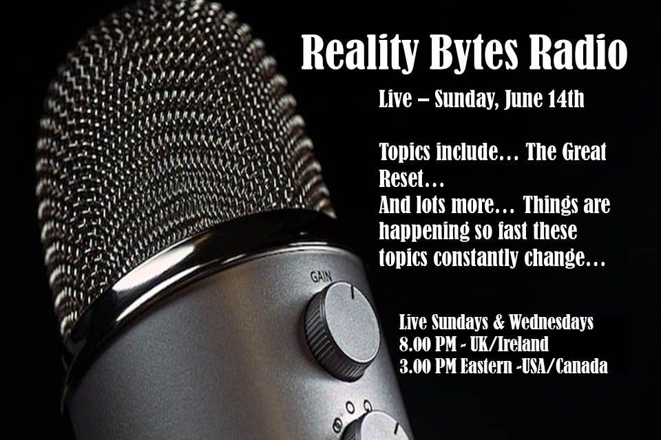 Reality Bytes Radio Live – June 14th
