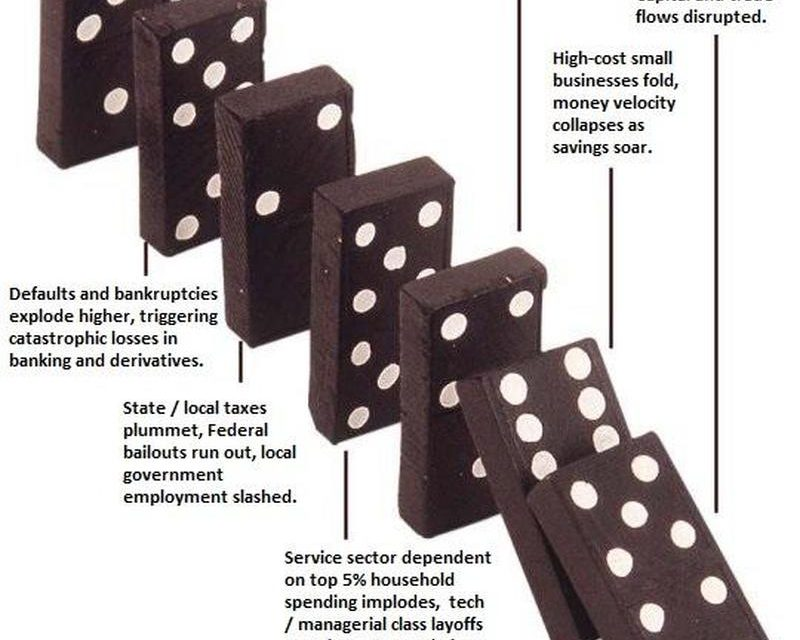 The Depression Dominoes Are Toppling
