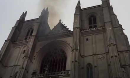 Arson suspected in burning of historic cathedral in western France
