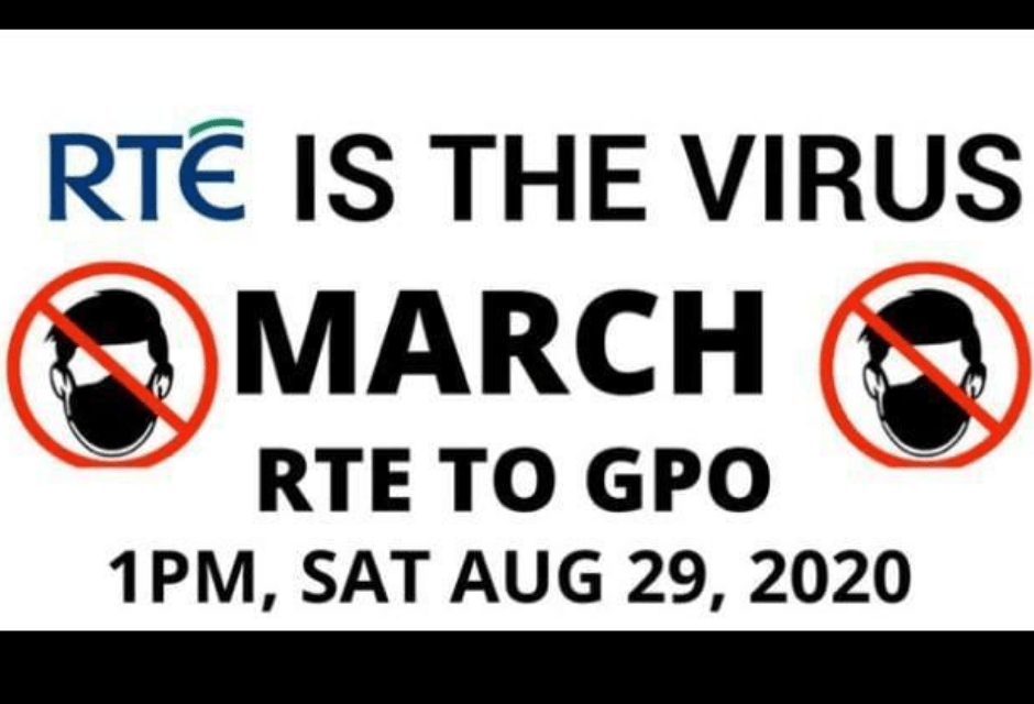 PROTEST MARCH : RTE TO THE GPO – RTE IS THE VIRUS