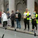 Crowds gather in Dublin city centre for silent vigil and protest after six homeless deaths in ten days