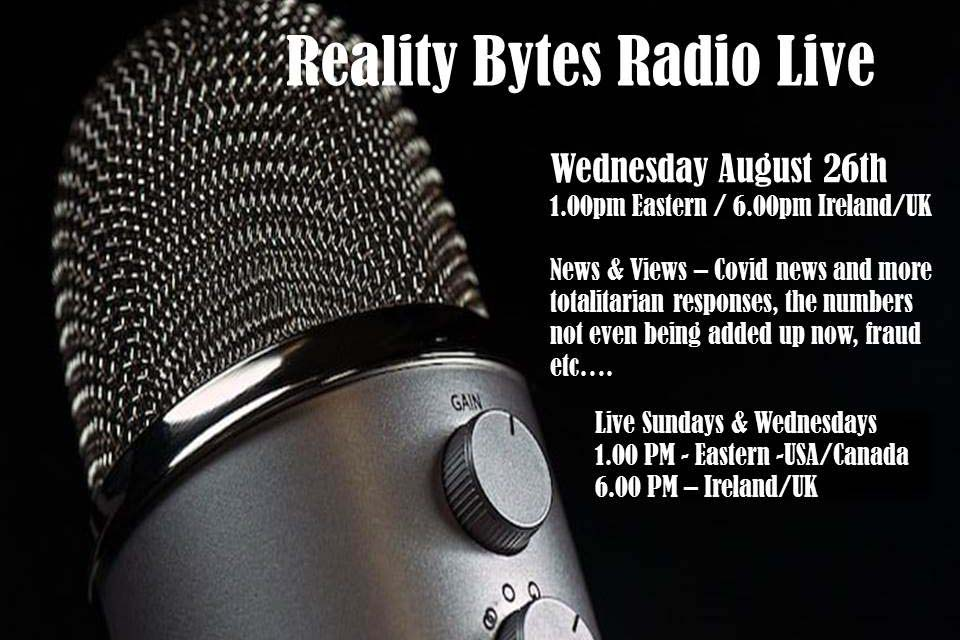 Reality Bytes Radio Live – August 26th – News & Views