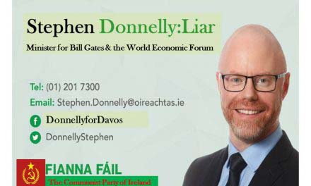 Irish Minister For Health, Stephen Donnelly needs to be Locked Up for Treason