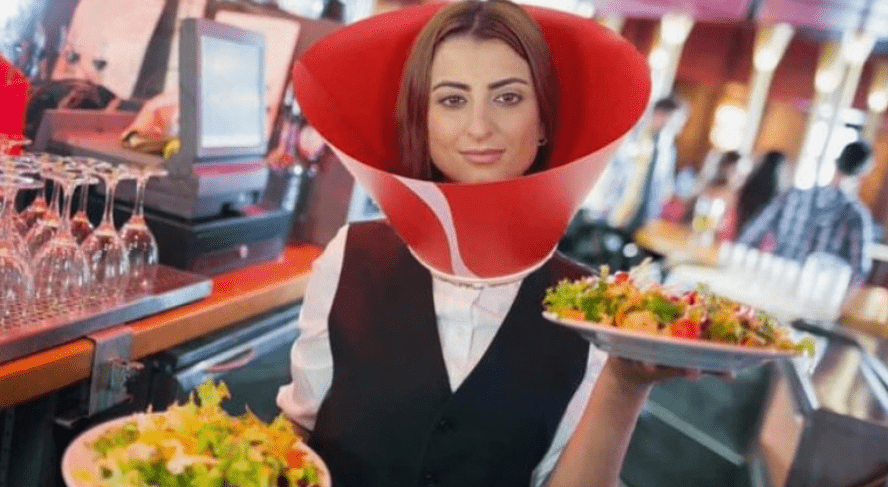COVID HUMILIATION: Service industry workers in Maine now have to wear DOG CONES because of corona virus
