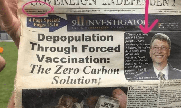Depopulation Through Forced vaccination: The Zero Carbon Solution.