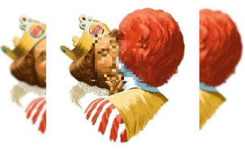 Burger King ad features homosexual kiss between its male mascot and Ronald McDonald