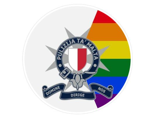 Malta police add LGBT rainbow to coat of arms beside motto 'Lord, guide us' for 'Pride' month