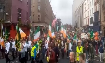 Thousands of anti-mask and anti-lockdown protesters held large rally in Dublin despite restrictions and say they will do again