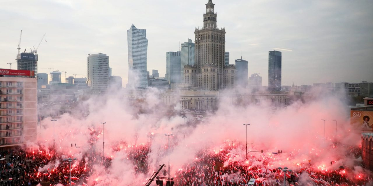 Polish nationalists fired upon by police citing Covid-19 ban, abortion marches allowed
