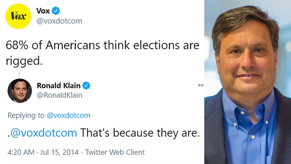 """Biden's pick for Chief of Staff in 2014: """"American elections are rigged"""""""