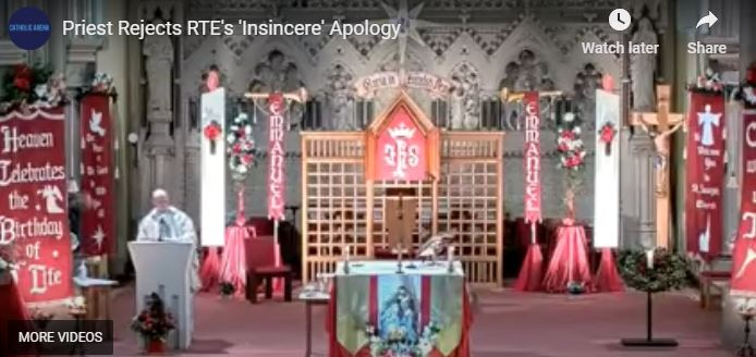 PRIEST REJECTS RTE'S 'PATHETIC' APOLOGY
