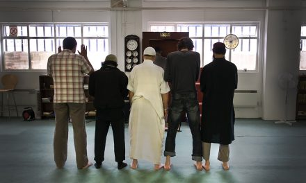 "Hundreds of Muslims"" attend Friday prayers at Blackpitts mosque in Dublin city while Catholic mass is banned"