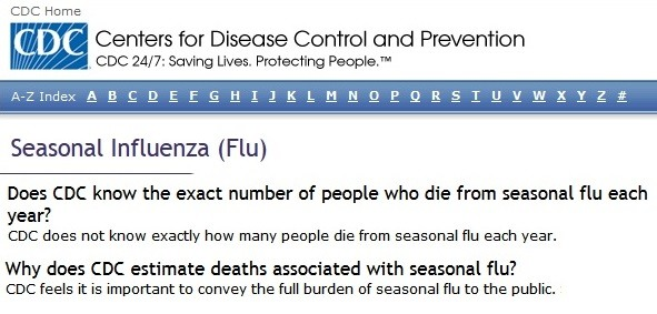 Annual Flu Deaths Scam Unwittingly Exposed And Replaced By The COVID Deaths Scam