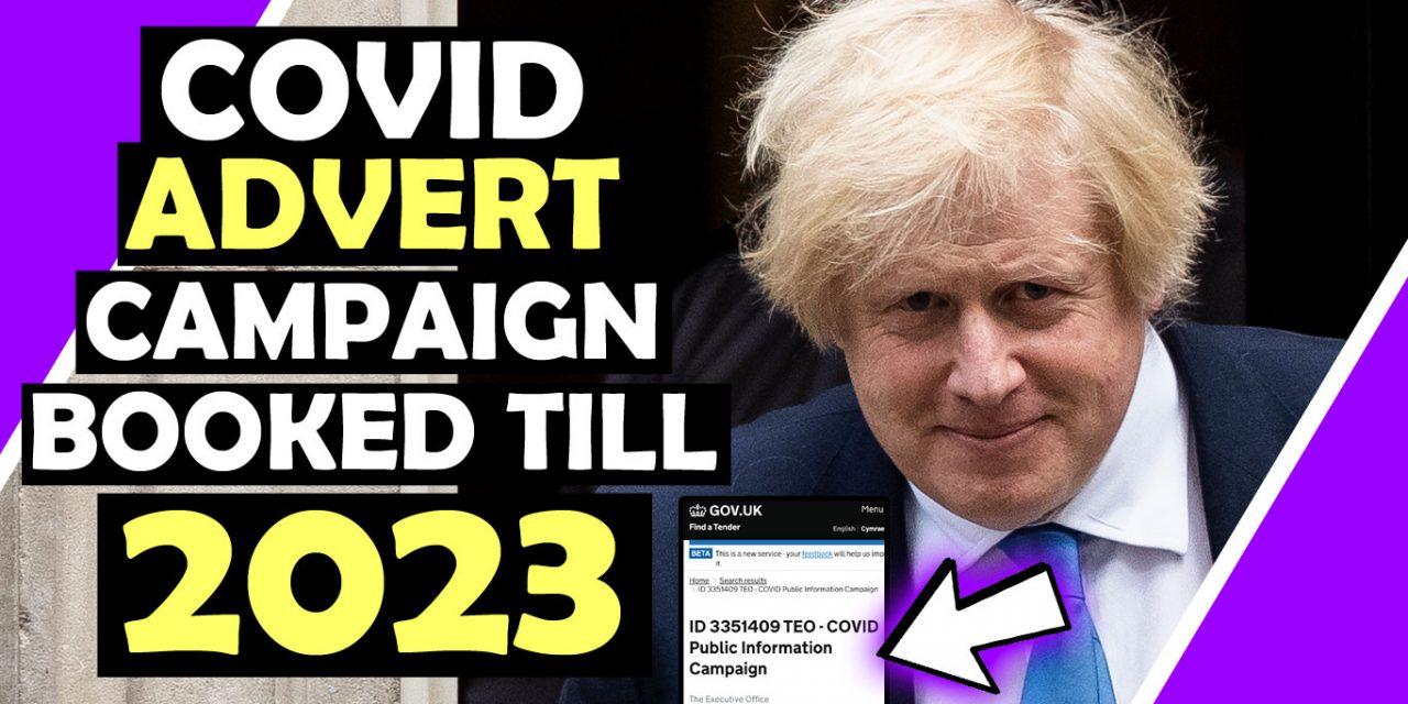 UK GOVT Book COVID Advert Campaign Until 2023! / Hugo Talks #lockdown