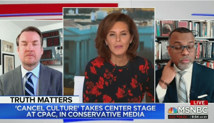 """MSNBC: White People Who Oppose Cancel Culture are """"Insecure"""" Racists"""