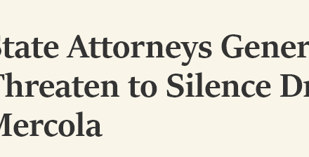 State Attorneys General Threaten to Silence Dr. Mercola