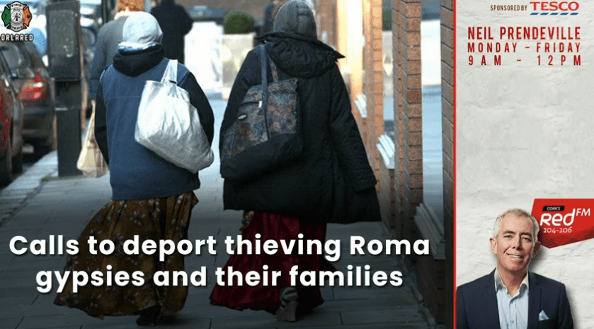 CALLS TO DEPORT THIEVING ROMA GYPSIES AND THEIR FAMILIES FROM IRELAND