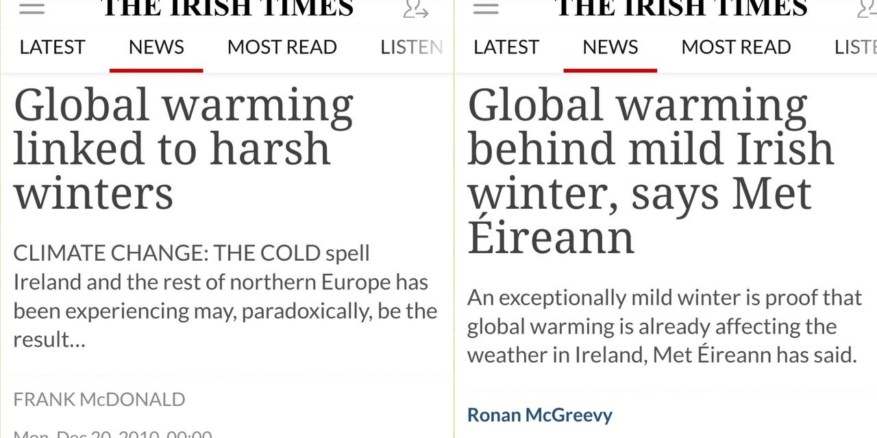 The (Irish) Times They Are A-Changin' (Their 'Stories' Yet Again)
