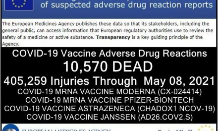 """10,570 DEAD 1,050,829 Injuries: European Database of Adverse Drug Reactions for COVID-19 """"Vaccines"""""""