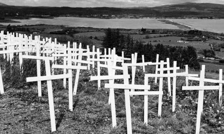CROSSES LAID IN MEMORY OF ABORTED IRISH BABIES