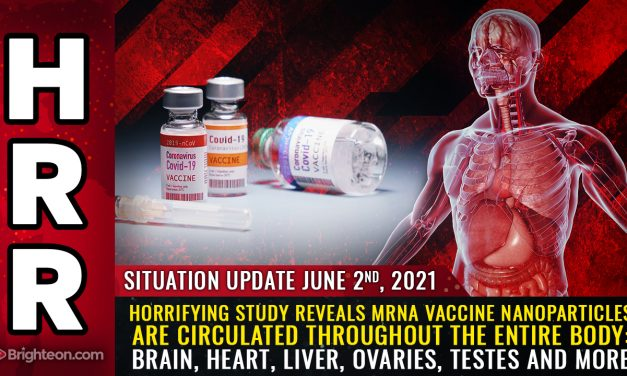 Horrifying study reveals mRNA vaccine nanoparticles are circulated throughout the entire body: Brain, heart, liver, ovaries, testes and more