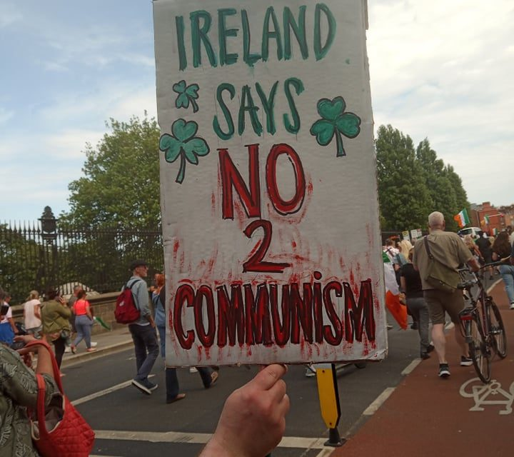 Some Images from todays protest in dublin 24/07/21