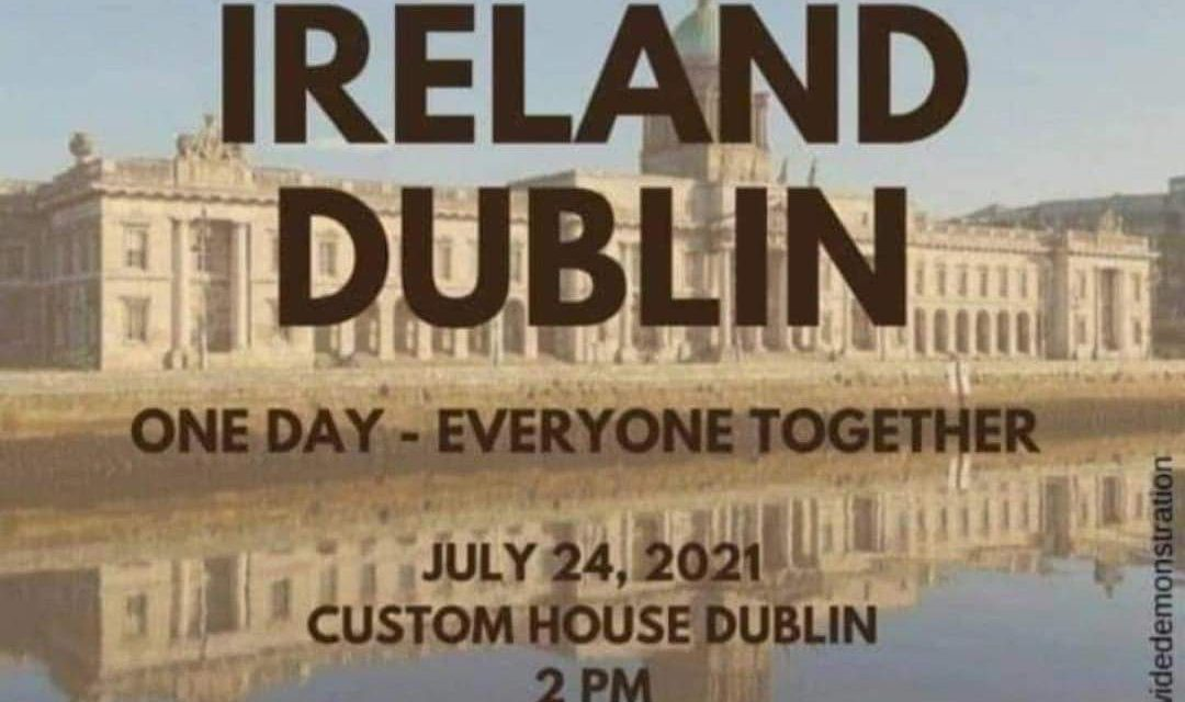 Dublin Ireland : World Wide Rally For Freedom