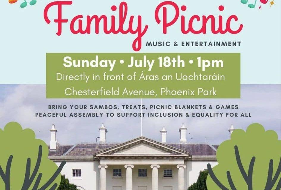 No Covid Pass Family Picnic – Sunday July 18th @ 1pm
