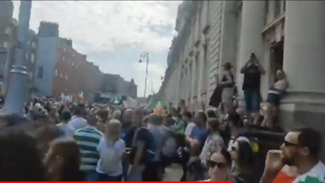 Dublin Protest LIVE : Gearoid Murphy