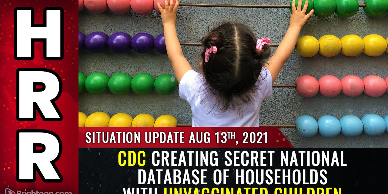 CDC creating secret national database of households with unvaccinated children… hear the recording… plan to medically KIDNAP all unvaxxed kids?