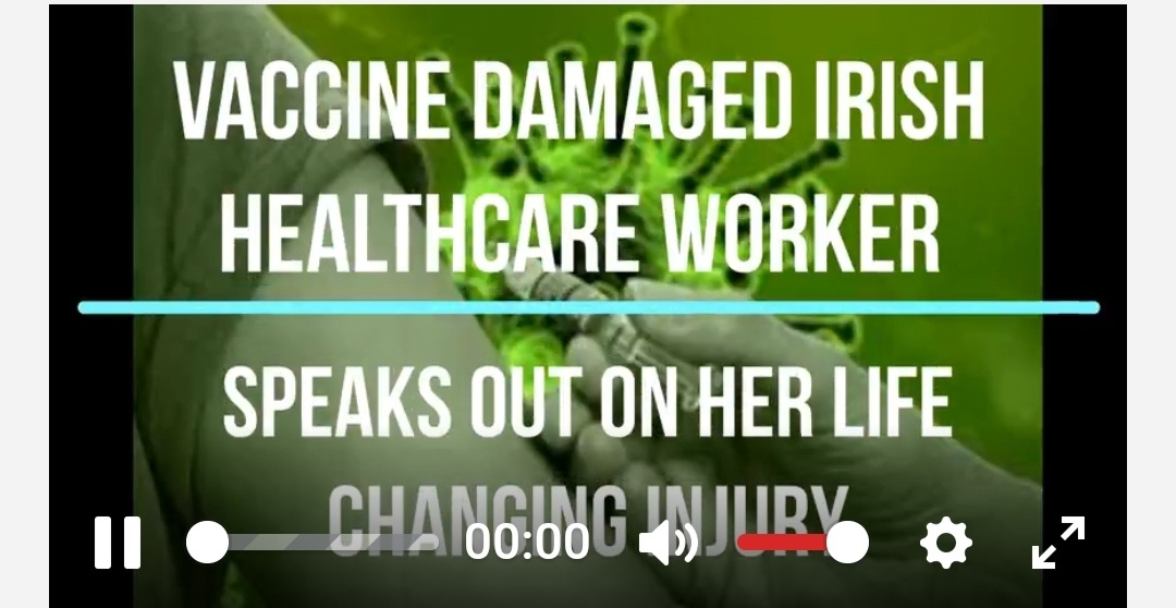 VACCINE DAMAGED IRISH HEALTHCARE WORKER SPEAKS OUT ON HER LIFE CHANGING INJURY.
