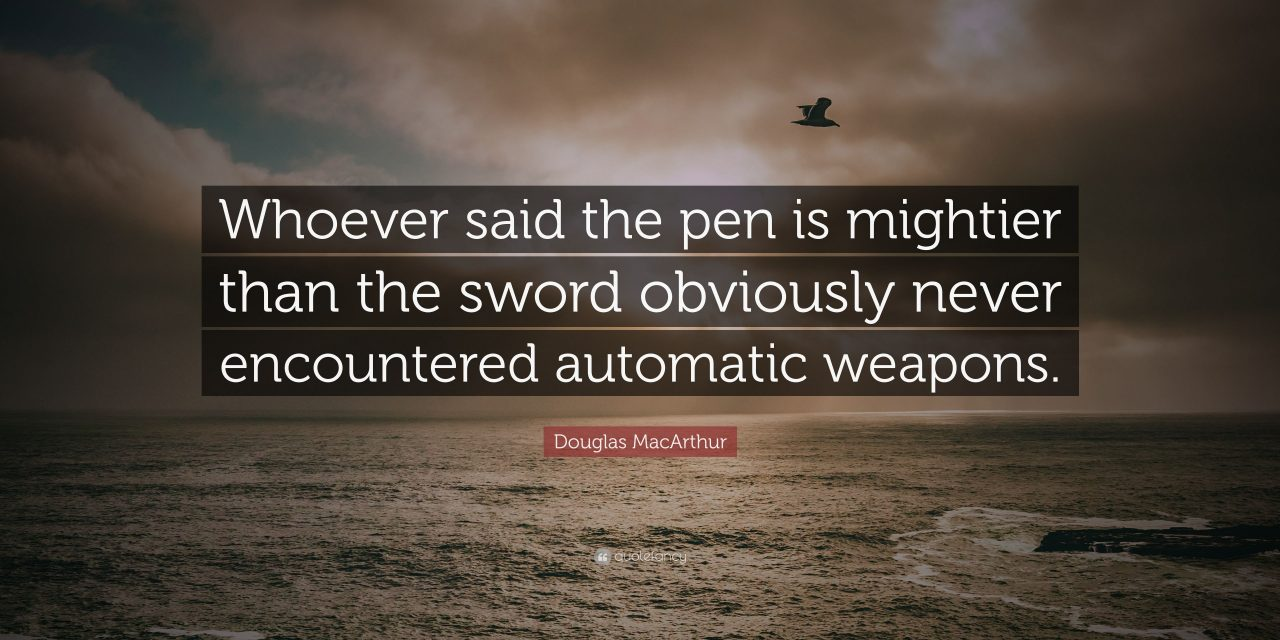 A Poisoned Pen is NOT Mightier Than A Truthful Sword