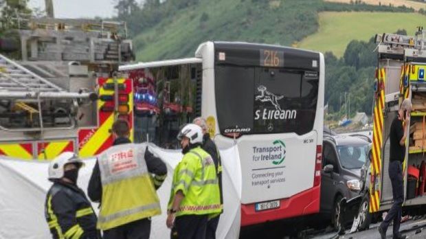 Suspicion that this is Jab related : Two killed after bus goes out of control