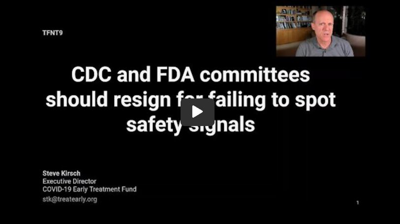 CDC and FDA vaccine committee members should resign for failing to spot safety signals