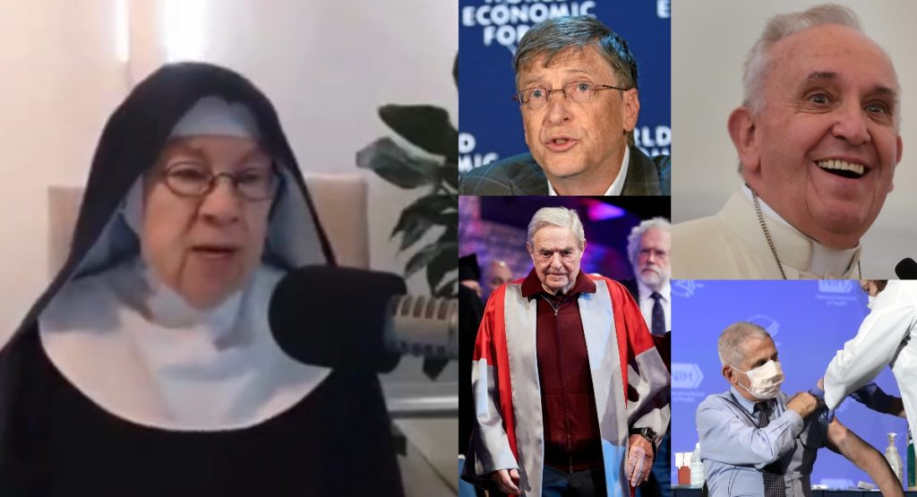 VIDEO: Catholic Nun Says COVID-19 Vaccines Are Globalist Plot For Population Control, Pope Francis Their 'Spiritual Leader'